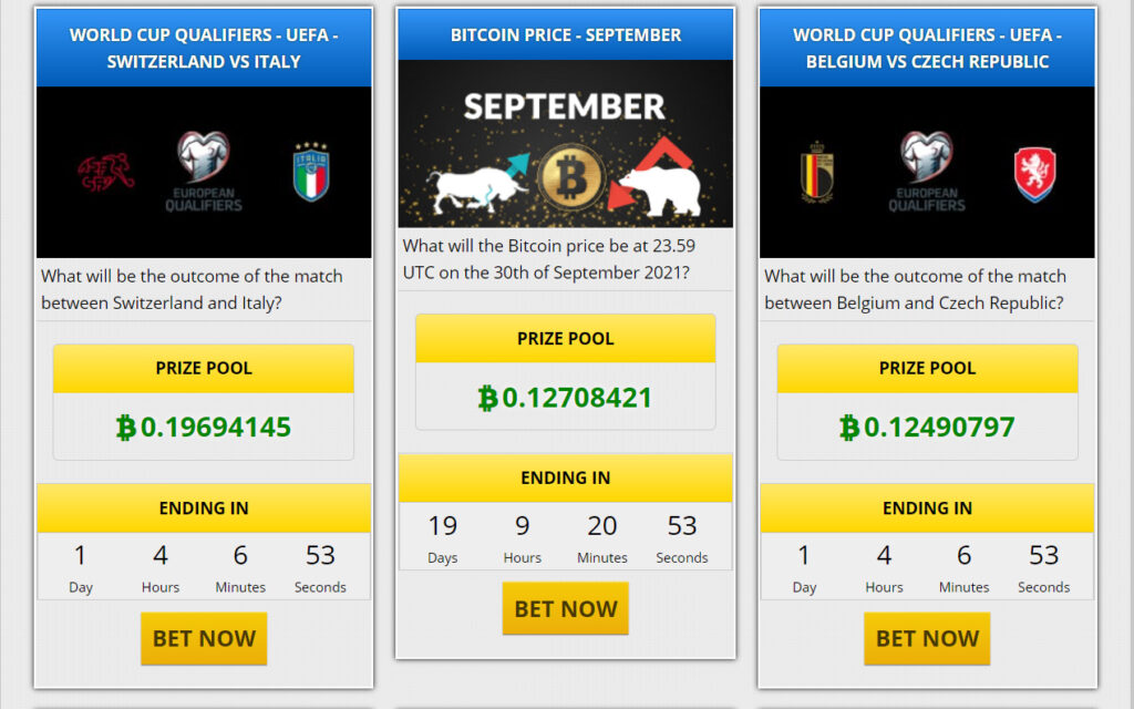 Betting Events Options