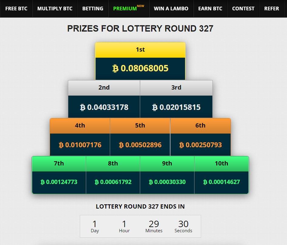 FreeBitcoin Lottery