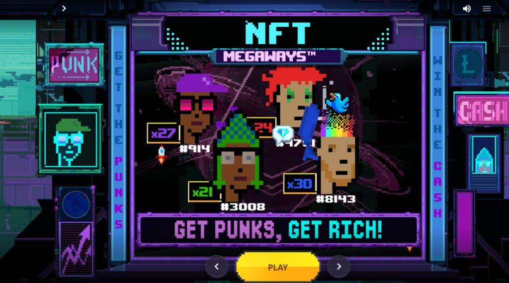 NFT Megaways Start Screen