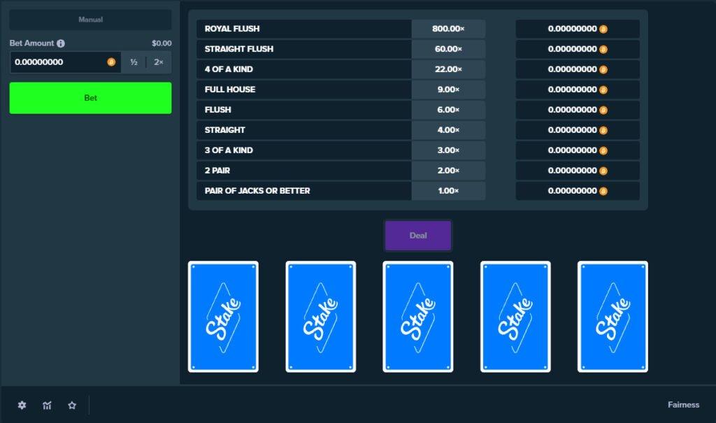 Provably Fair Table Poker